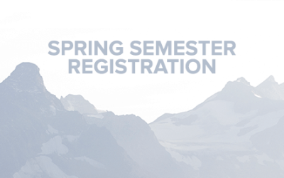 Spring Semester Registration 2017