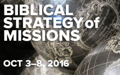 Block Class: Biblical Strategy of Missions with Alan Patterson (October 3-8, 2016)